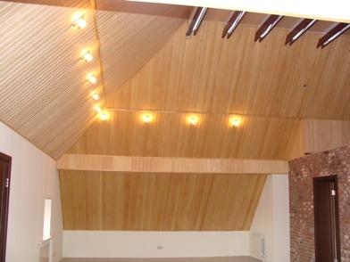 Светильнике - установленные в деревянном доме